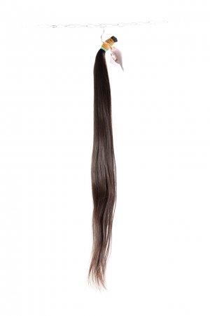 Přírodní tmavé vlasy k prodloužení.