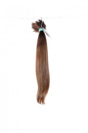 Husté evropské vlasy hnědé