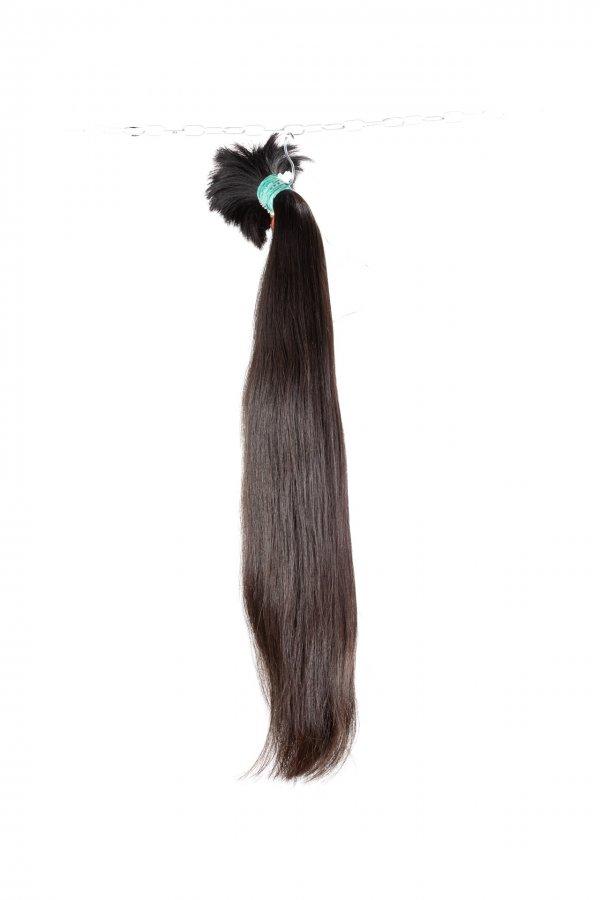 Hnědé rovné vlasy na prodlužování vlasů