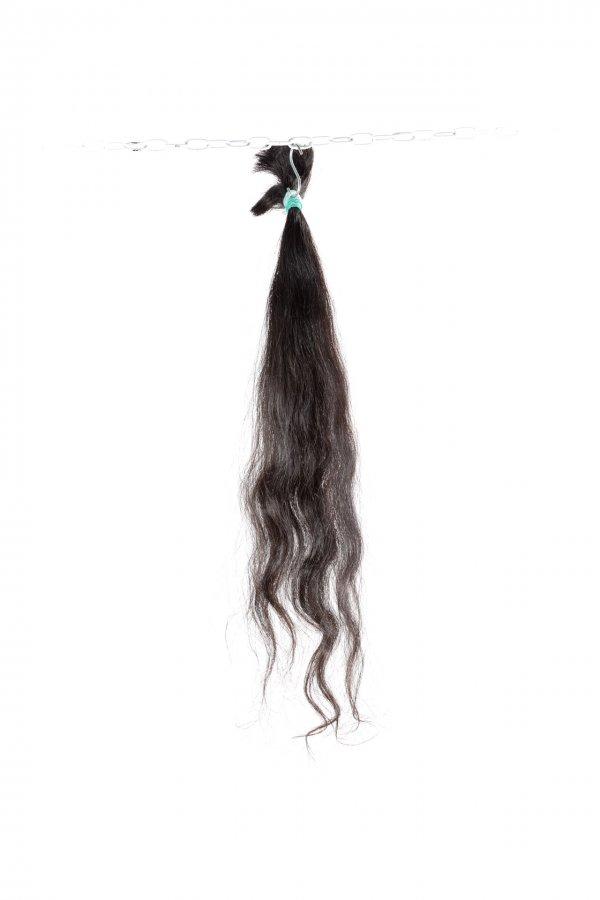 Vlnité vlasy na prodlužování v hnědém odstínu