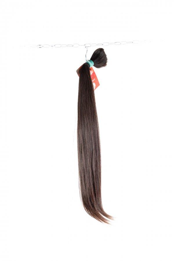 Rovné řecké vlasy v hnědé barvě na prodlužování
