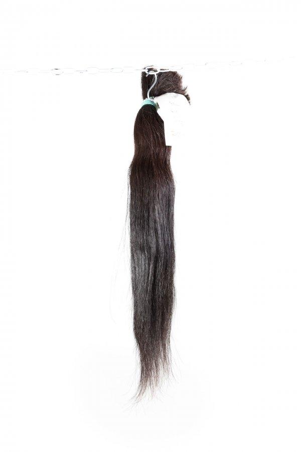 Rovné tmavé culíky na prodlužování vlasů-