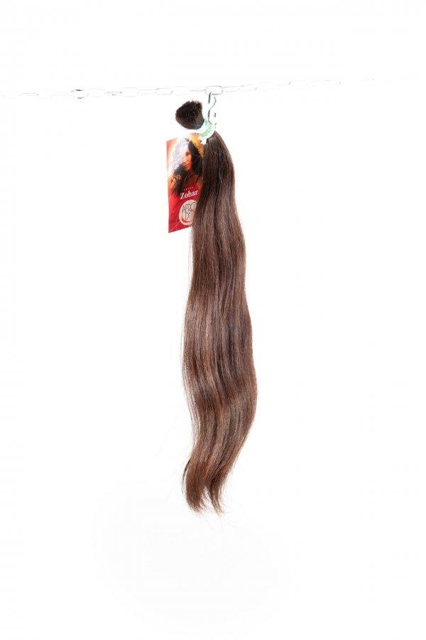 Lehká vlna s hnědým odstínem na prodlužování vlasů.