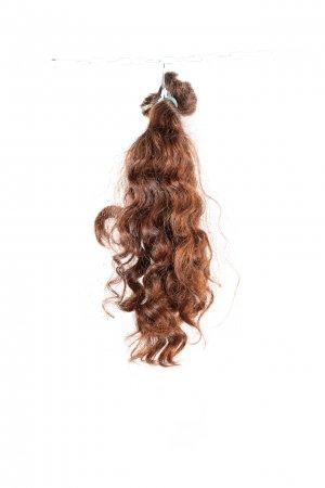 Přírodní hnědé vlasy na prodlužování vlasů,