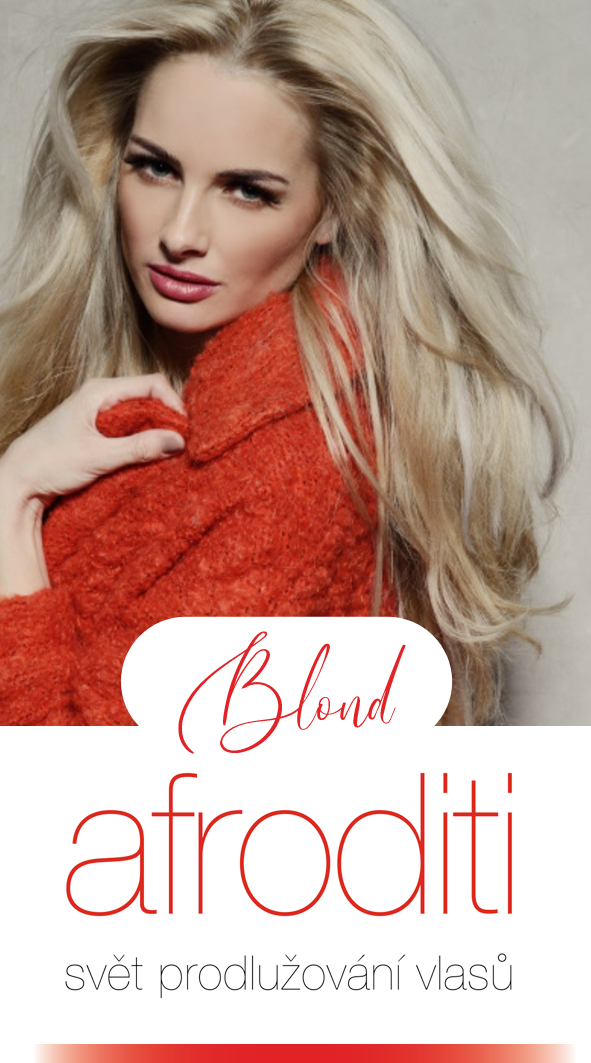 Blond vlasy zahuštění