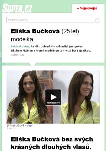 Eliška Bučková prodloužené vlasy