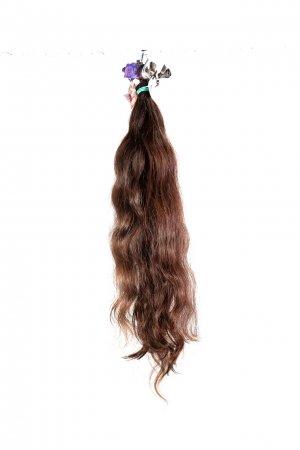Vlnité hnědé vlasy k prodloužení