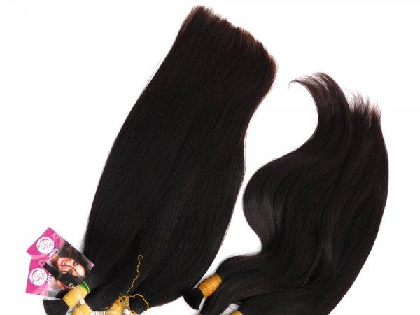 Jemné tmavé přírodní vlasy Agapé