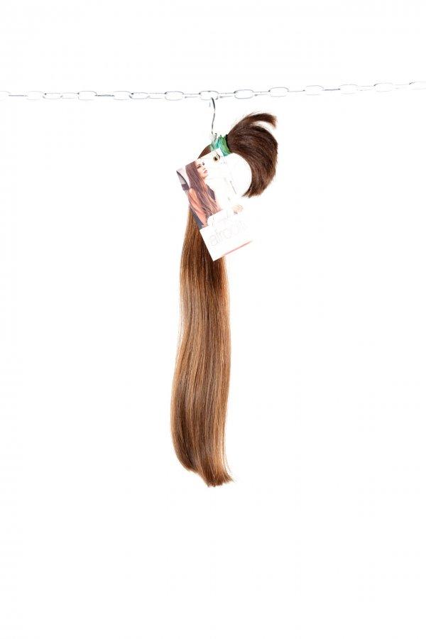 Evropské středně hnědé vlasy k prodloužení