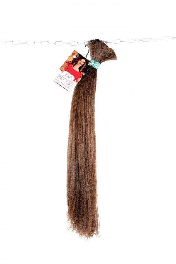 Husté středně hnědé vlasy z výkupu