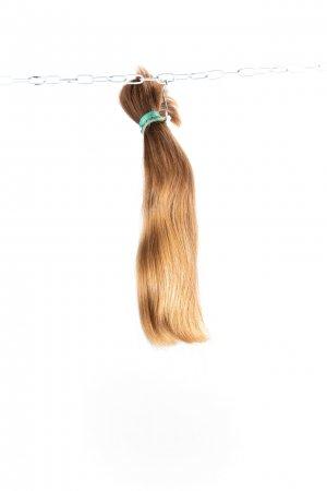 Dětské nebarvené vlasy k prodloužení vlasů.