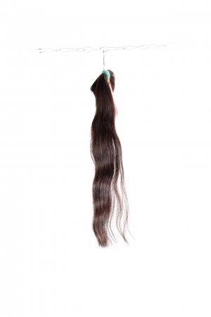 Vlnité hnědé vlasy k prodlužování vlasů