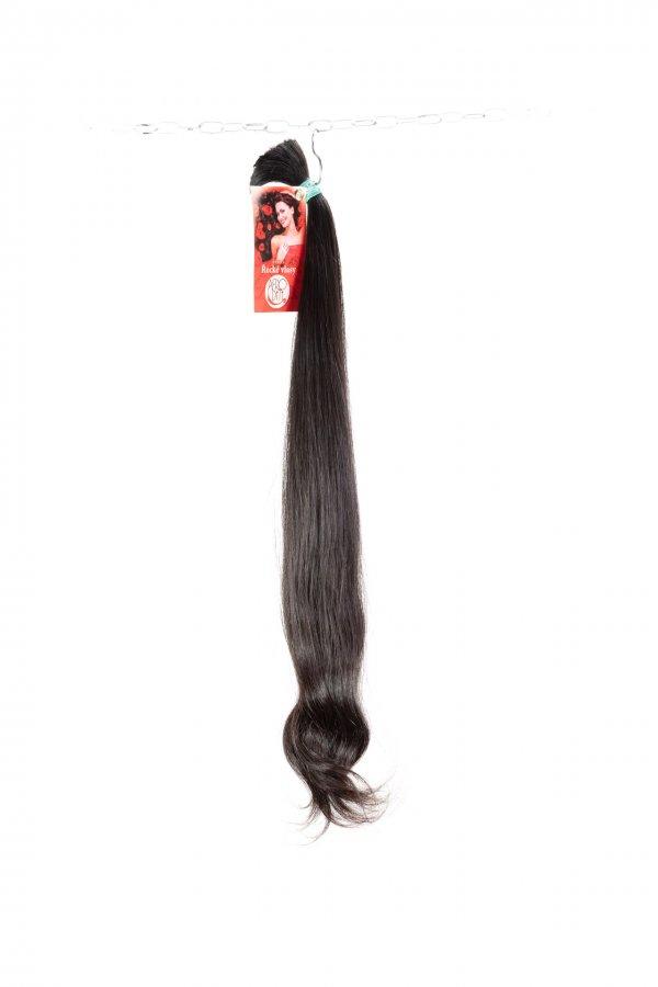 Vlnité vlasy v koncích v hnědé barvě na prodlužování