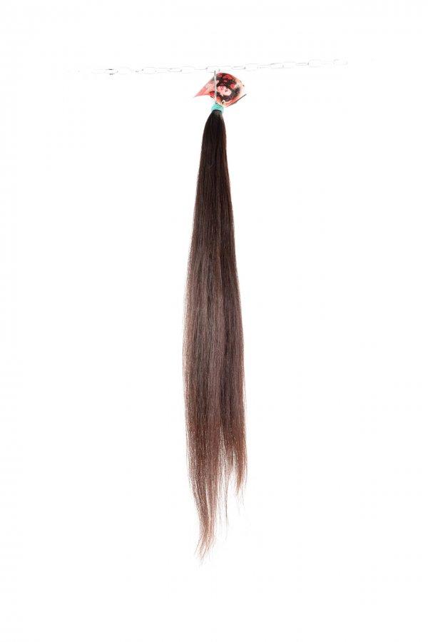Rovné hnědé vlasy na prodlužování vlasů