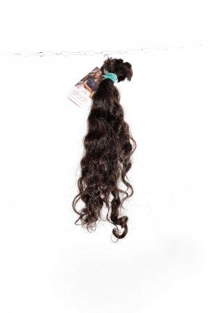 Vlnité vlasy tmavé odstíny na prodlužování.