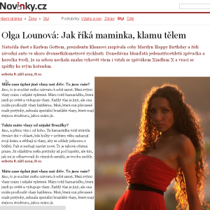 Olga Lounová Brazilské vlasy
