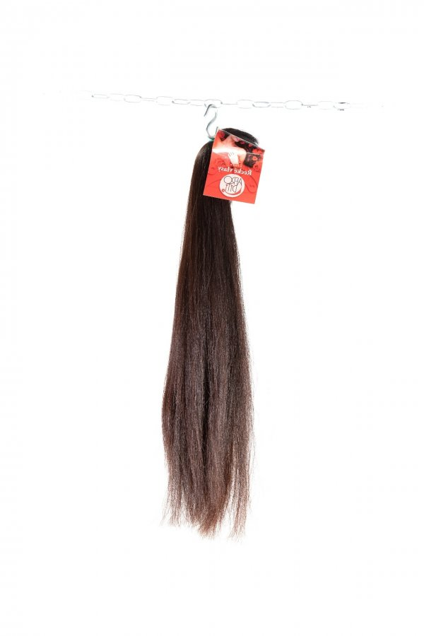 rovné hnědé řecké vlasy