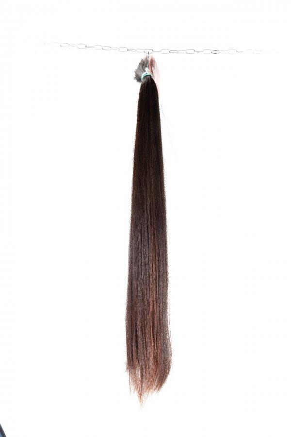 rovné hnědé vlasy prodloužení